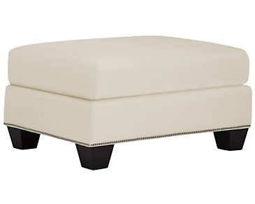 Briget2 Light Beige Fabric Ottoman