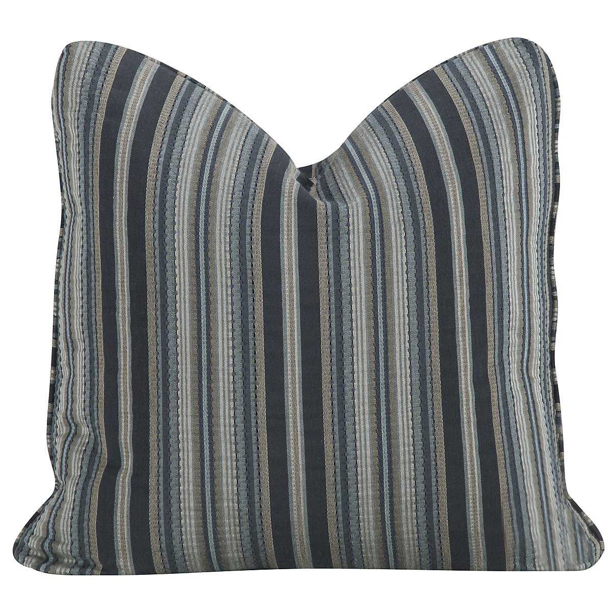 Skies Stripe Fabric Square Accent Pillow