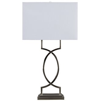 Rome Modern Silver Table Lamp