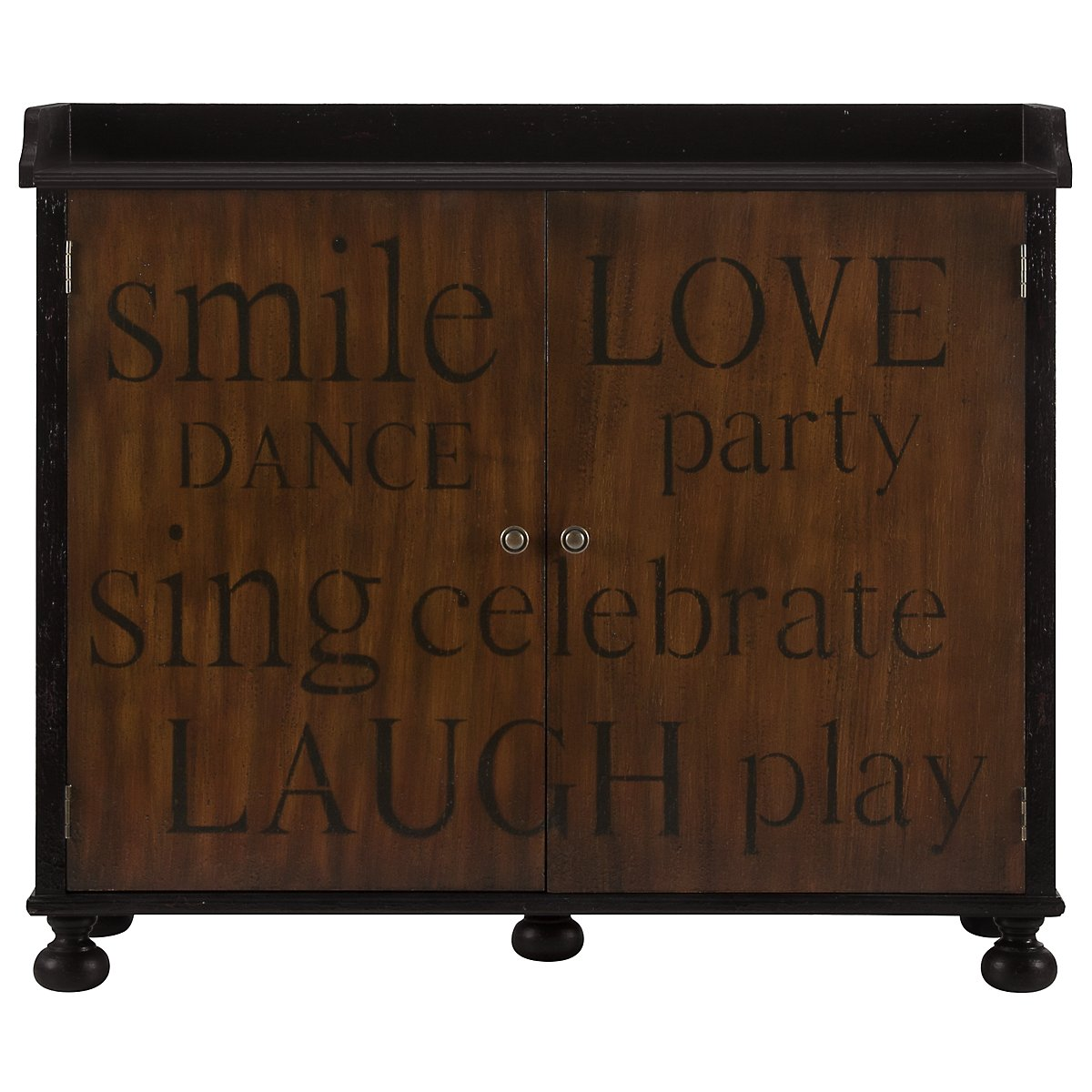 Poem2 Mid Tone Wood Cabinet