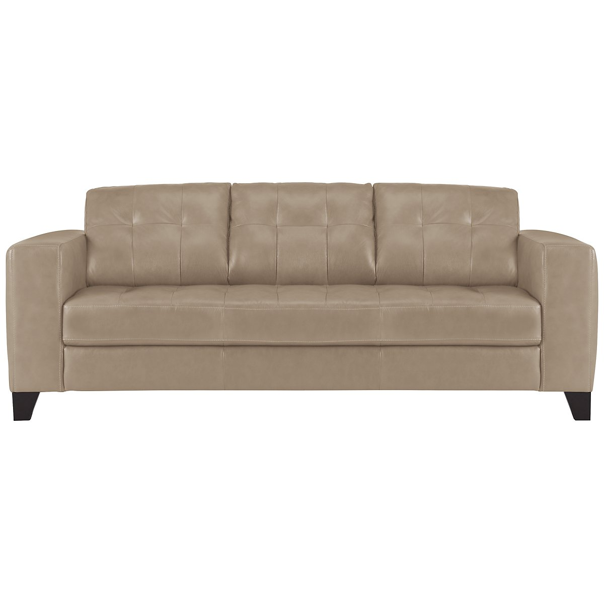 Elle Lt Taupe Leather & Bonded Leather Sofa