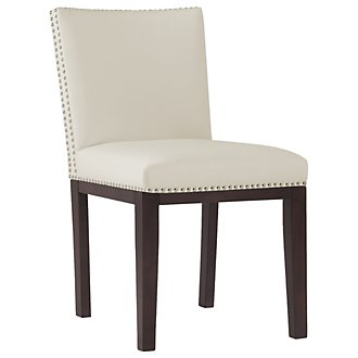 Tiffany White Bonded Leather Side Chair