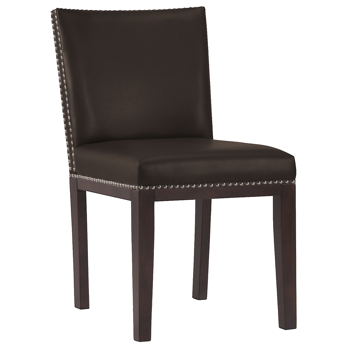 Tiffany Dk Brown Bonded Leather Side Chair