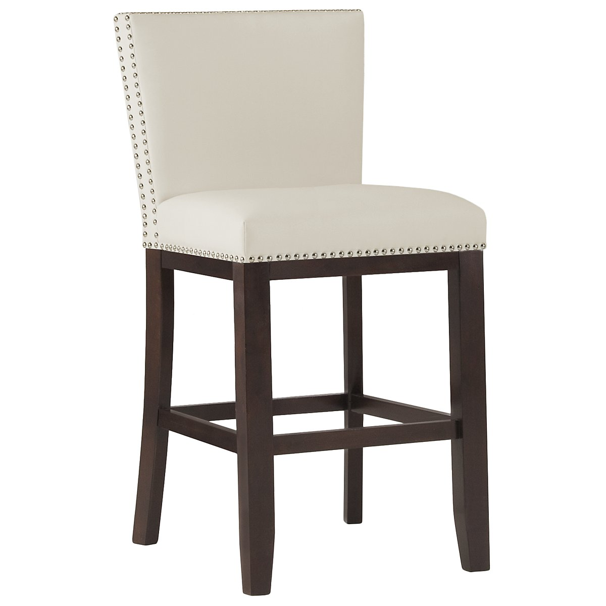 "Tiffany White 24"" Bonded Leather Barstool"