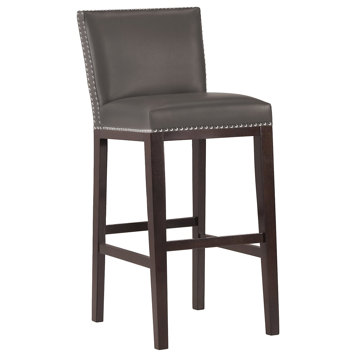 "Tiffany Dk Gray 30"" Bonded Leather Barstool"