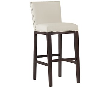 "Tiffany White 30"" Bonded Leather Barstool"