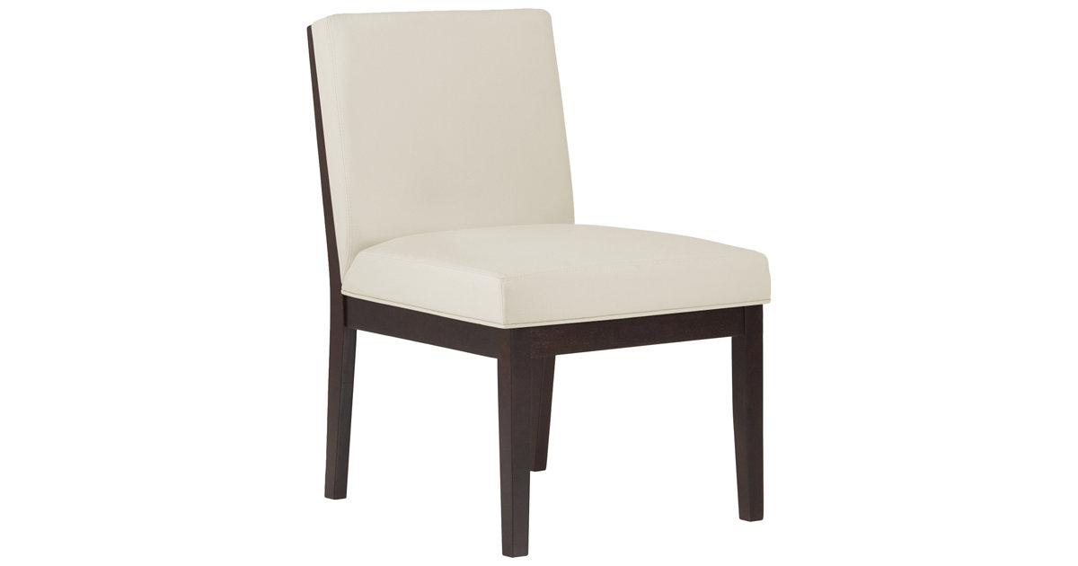 City Furniture Emma White Bonded Leather Side Chair