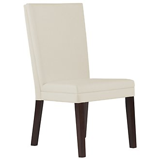 Antonio White Bonded Leather Side Chair