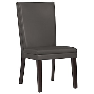 Antonio Dk Gray Bonded Leather Side Chair