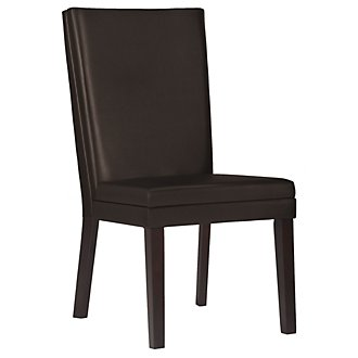 Antonio Dk Brown Bonded Leather Side Chair
