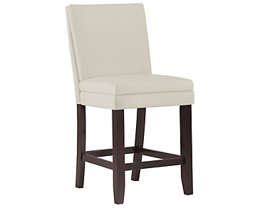 "Antonio White 24"" Bonded Leather Barstool"