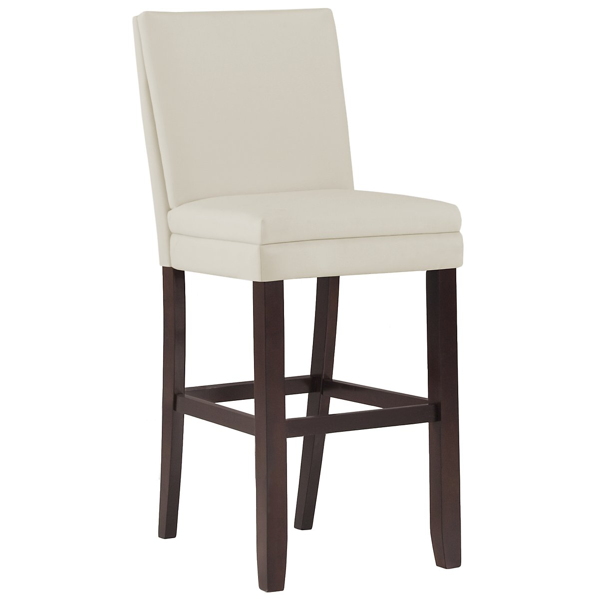 "Antonio White 30"" Bonded Leather Barstool"