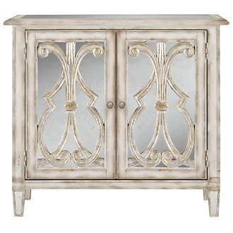 Artesano White Mirrored Accent Chest