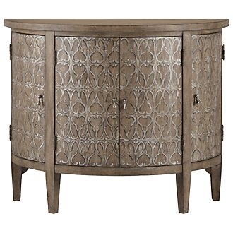 Artesano Light Tone Demilune Accent Chest