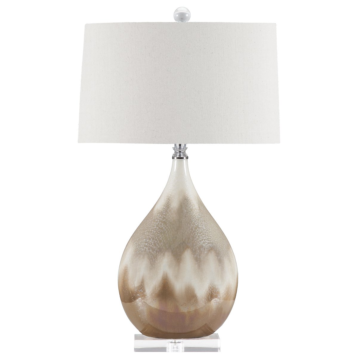 Flavian Lt Beige Table Lamp