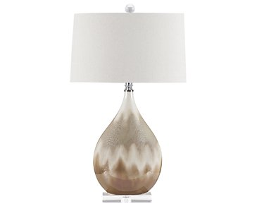 Flavian Light Beige Table Lamp