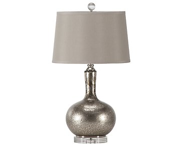 Aemilius Pewter Table Lamp
