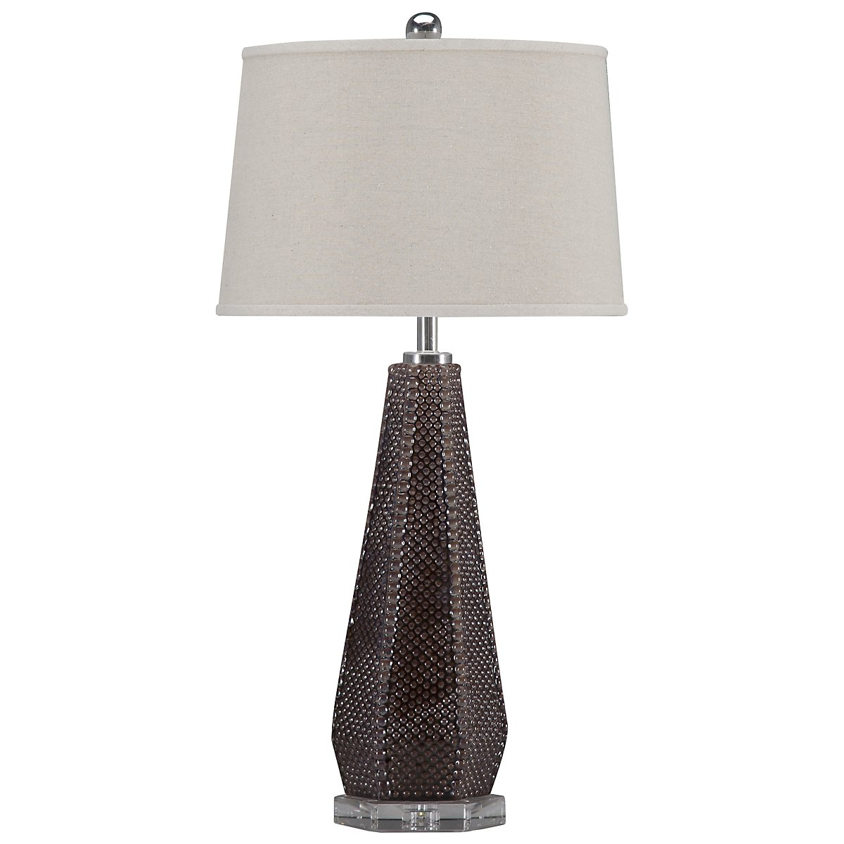 Pontius Dark Taupe Table Lamp