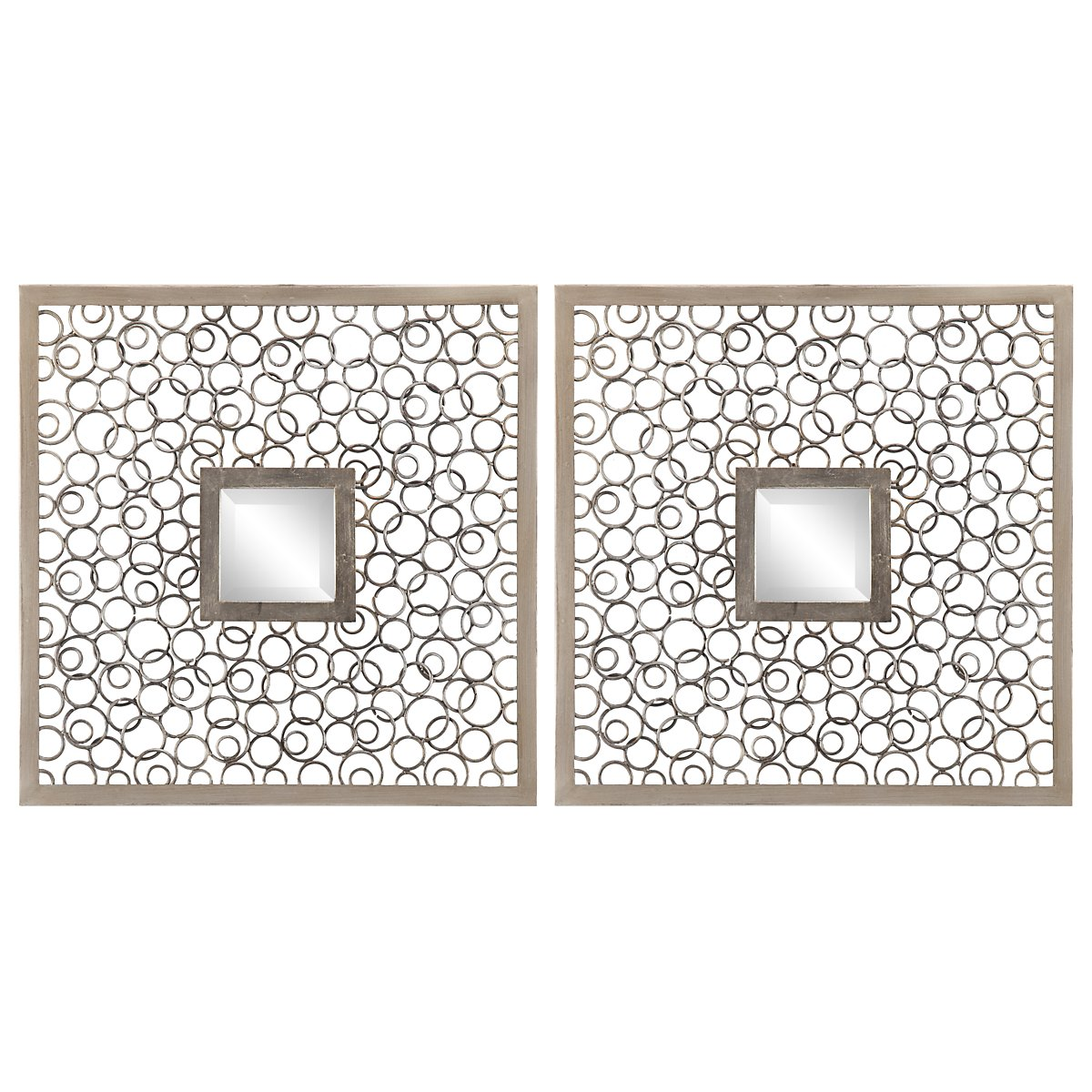 Colusa Silver Set Of 2 Metal Wall Art