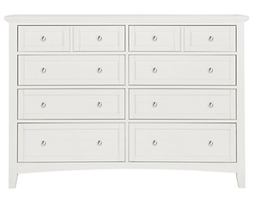 Captiva White Large Dresser