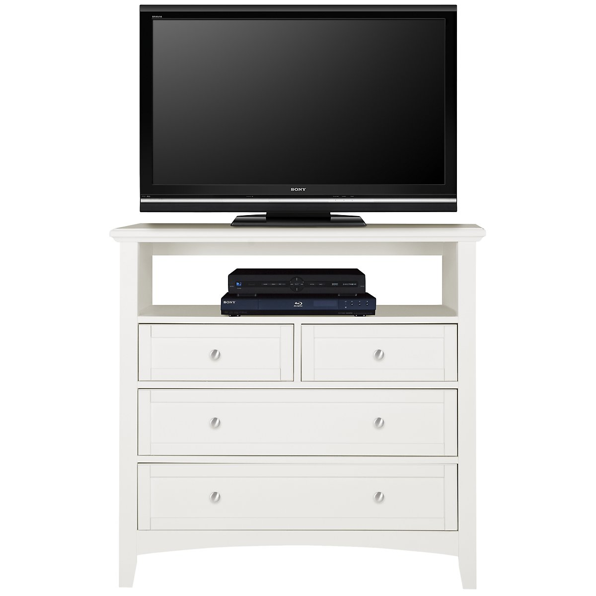 Captiva White Media Chest. City Furniture  Captiva White Small Dresser   Mirror