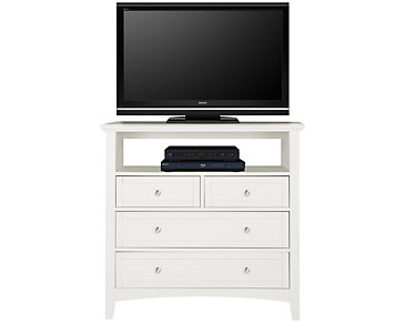 Captiva White Media Chest