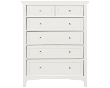 Captiva White Drawer Chest