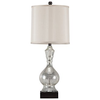 Rogena Lt Gray Table Lamp