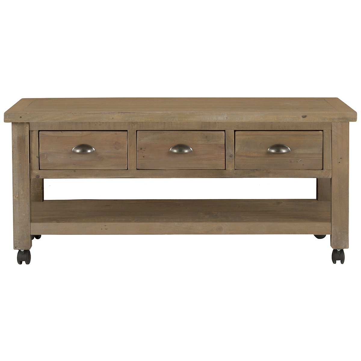 Jaden Light Tone Storage Rectangular Coffee Table