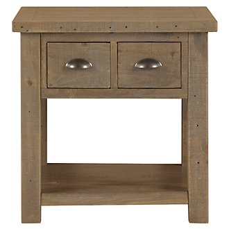Jaden Light Tone Square End Table