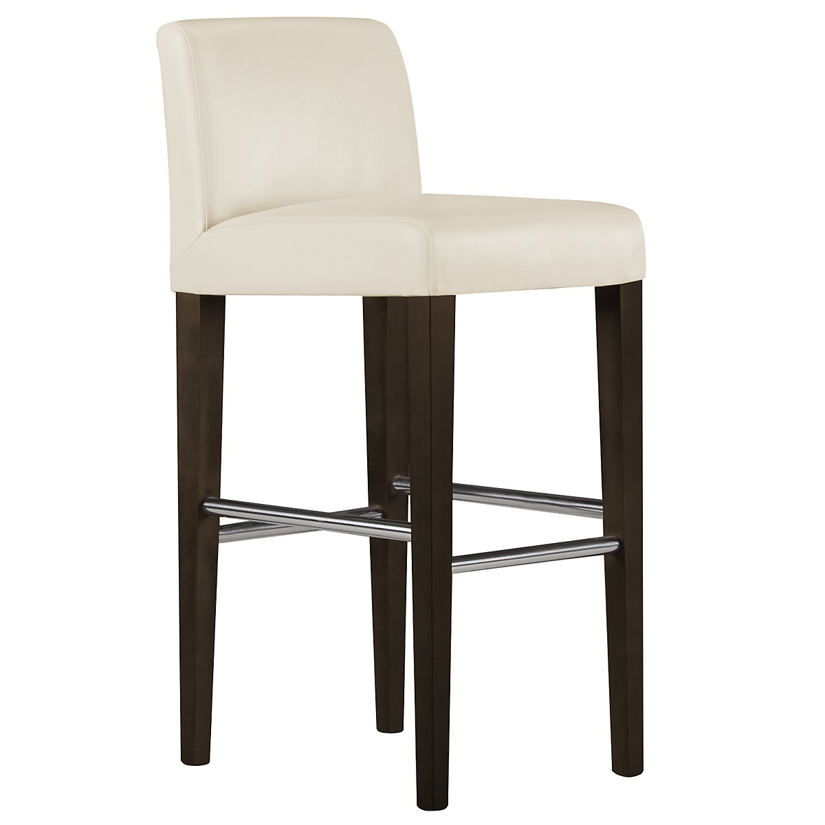 "Kyle2 Lt Beige Bonded Leather 30"" Upholstered Barstool"