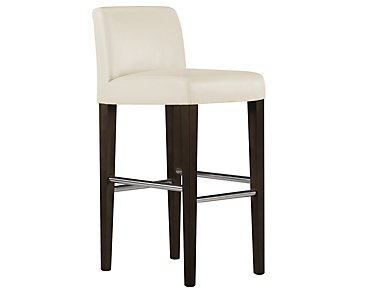 "Kyle2 Light Beige Bonded Leather 30"" Upholstered Barstool"
