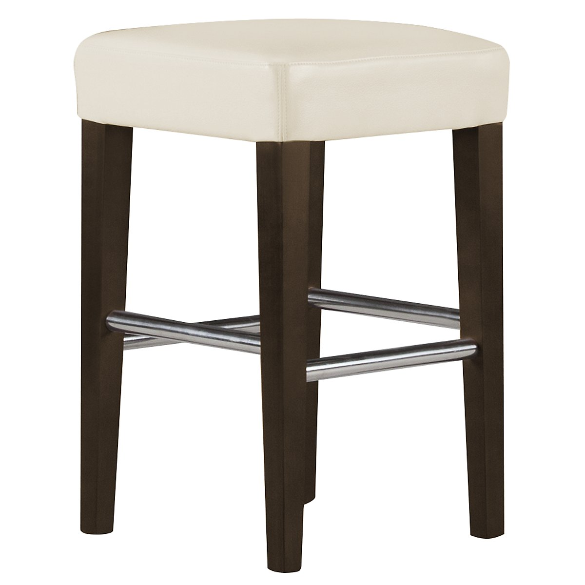 "Kayla2 Light Beige Bonded Leather 24"" Bonded Leather Barstool"