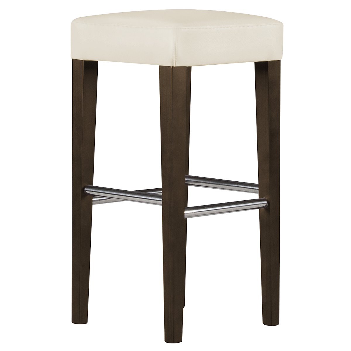 "Kayla2 Light Beige Bonded Leather 30"" Bonded Leather Barstool"