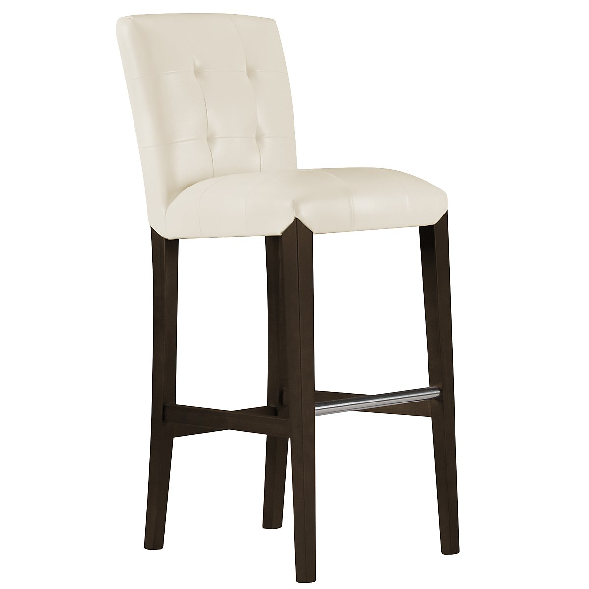 "Trisha2 Light Beige Bonded Leather 30"" Upholstered Barstool"