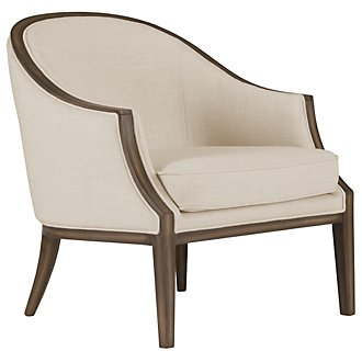 Kensie Beige Fabric Accent Chair
