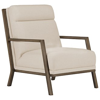 Brando Beige Fabric Accent Chair