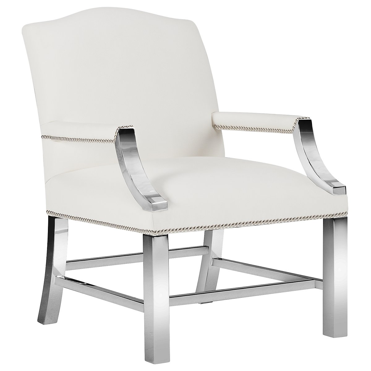 Jace White Bonded Leather Accent Chair