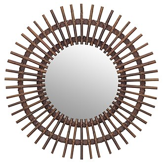 Taipan Brown Bamboo Mirror