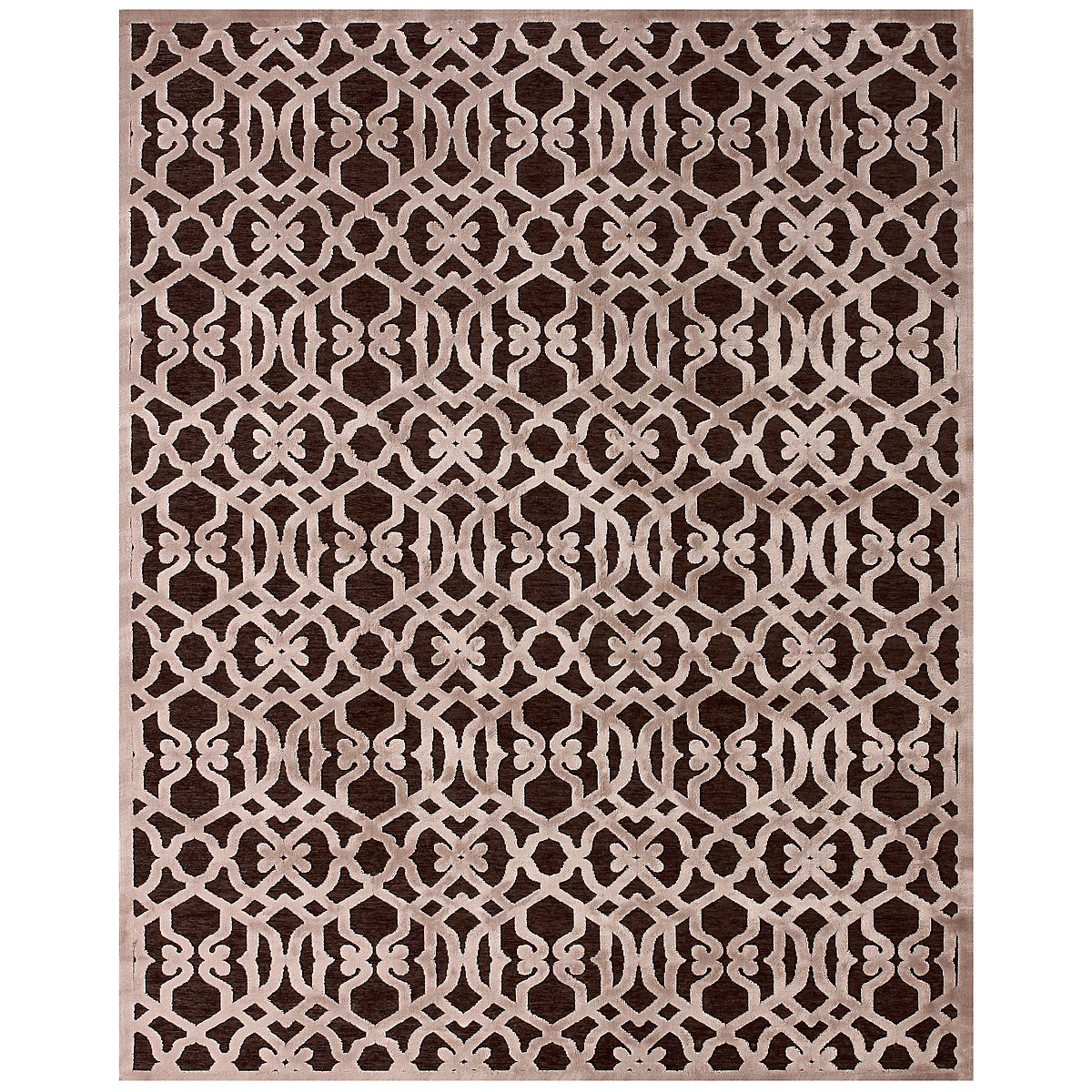 Zam Dark Brown 8X11 Area Rug