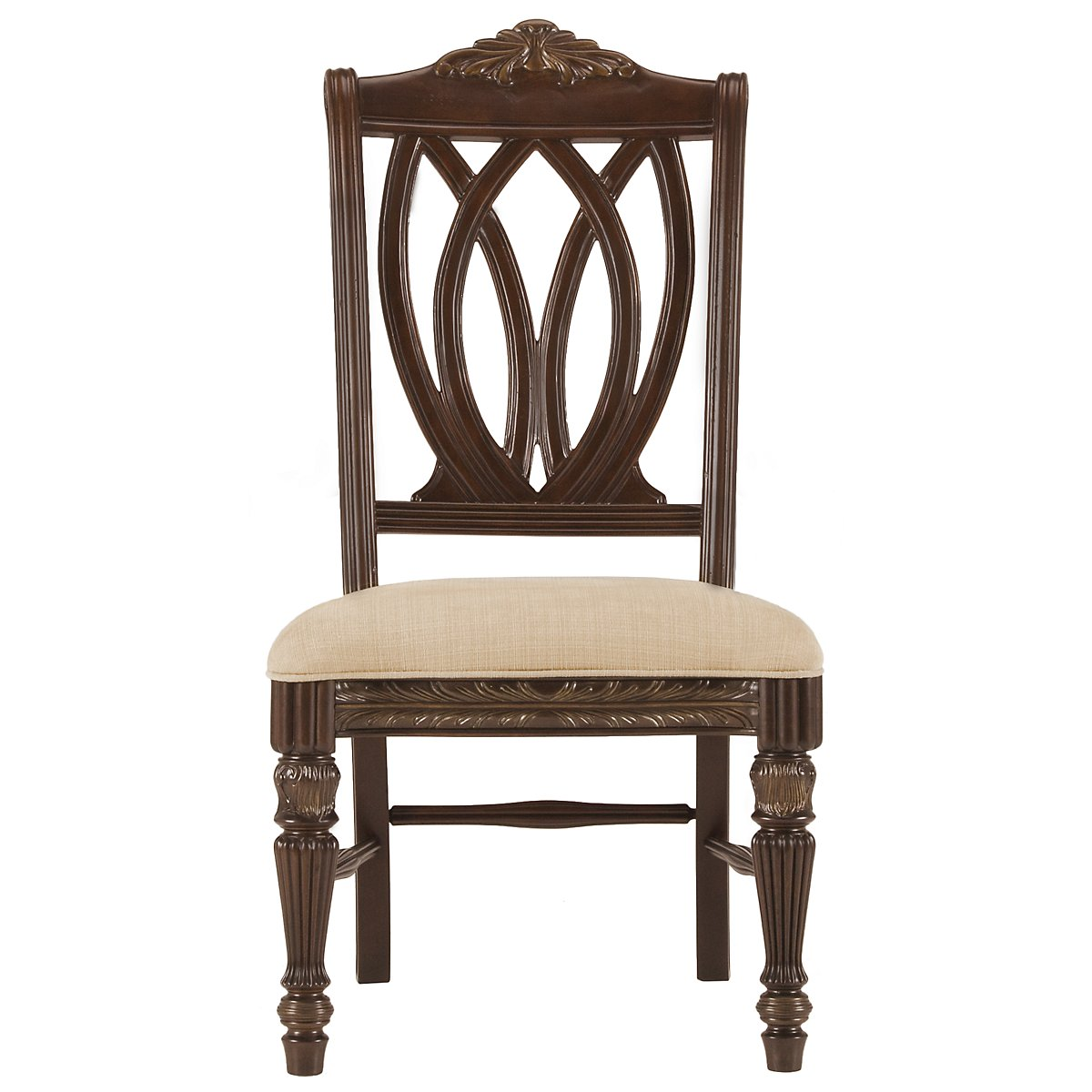 City Furniture Tradewinds Dark Tone Glass Table 4 Wood Chairs