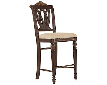 "Tradewinds Dark Tone 30"" Wood Barstool"