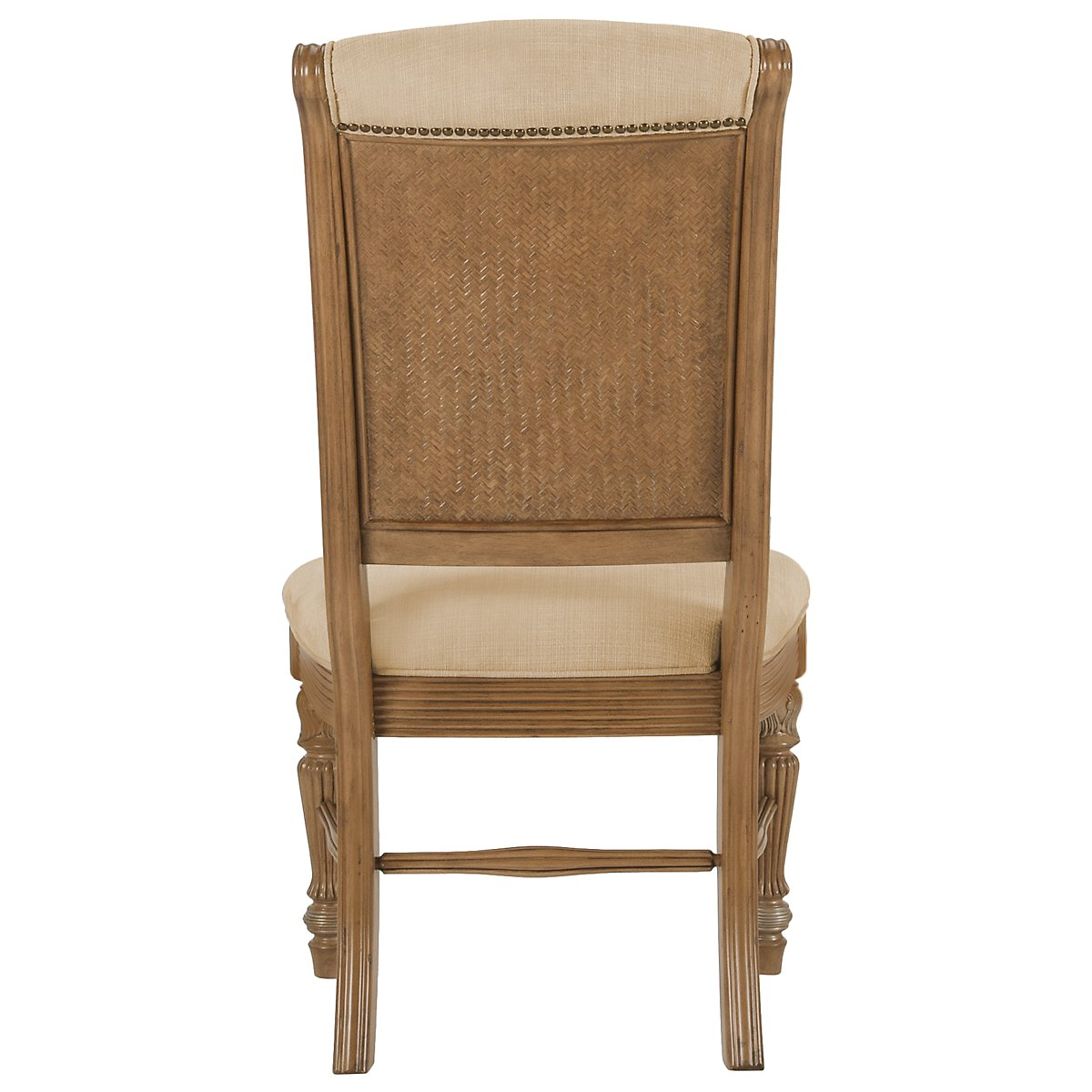 City Furniture Tradewinds Light Tone Round Table 4 Upholstered Chairs
