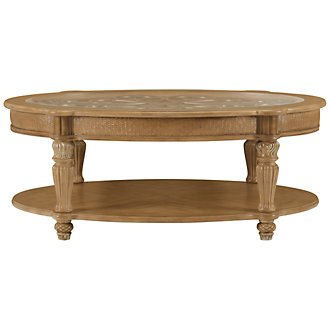 Tradewinds Light Tone Metal Oval Coffee Table