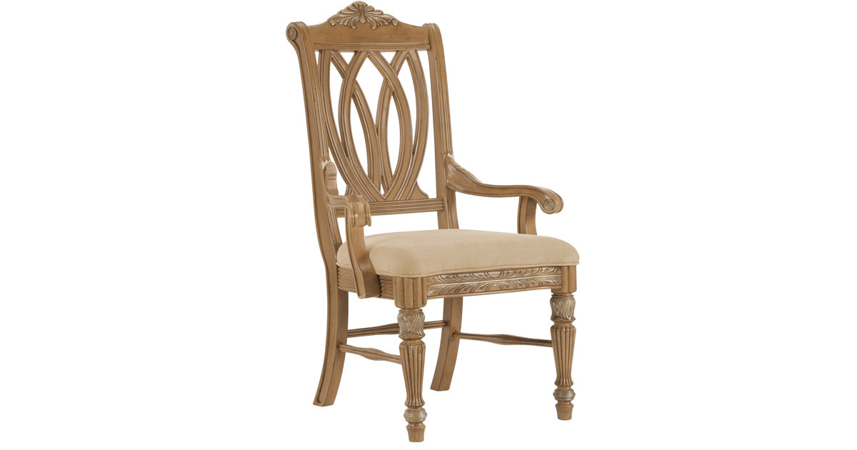 City Furniture Tradewinds2 Light Tone Wood Arm Chair
