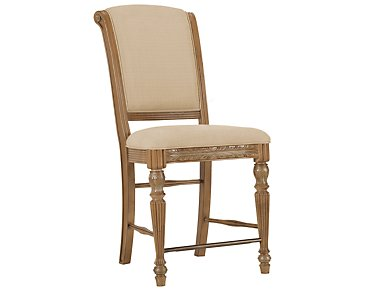 "Tradewinds2 Light Tone 24"" Upholstered Barstool"