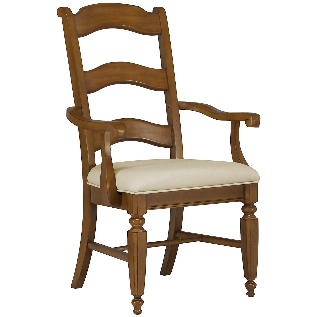 Claire Mid Tone Wood Arm Chair