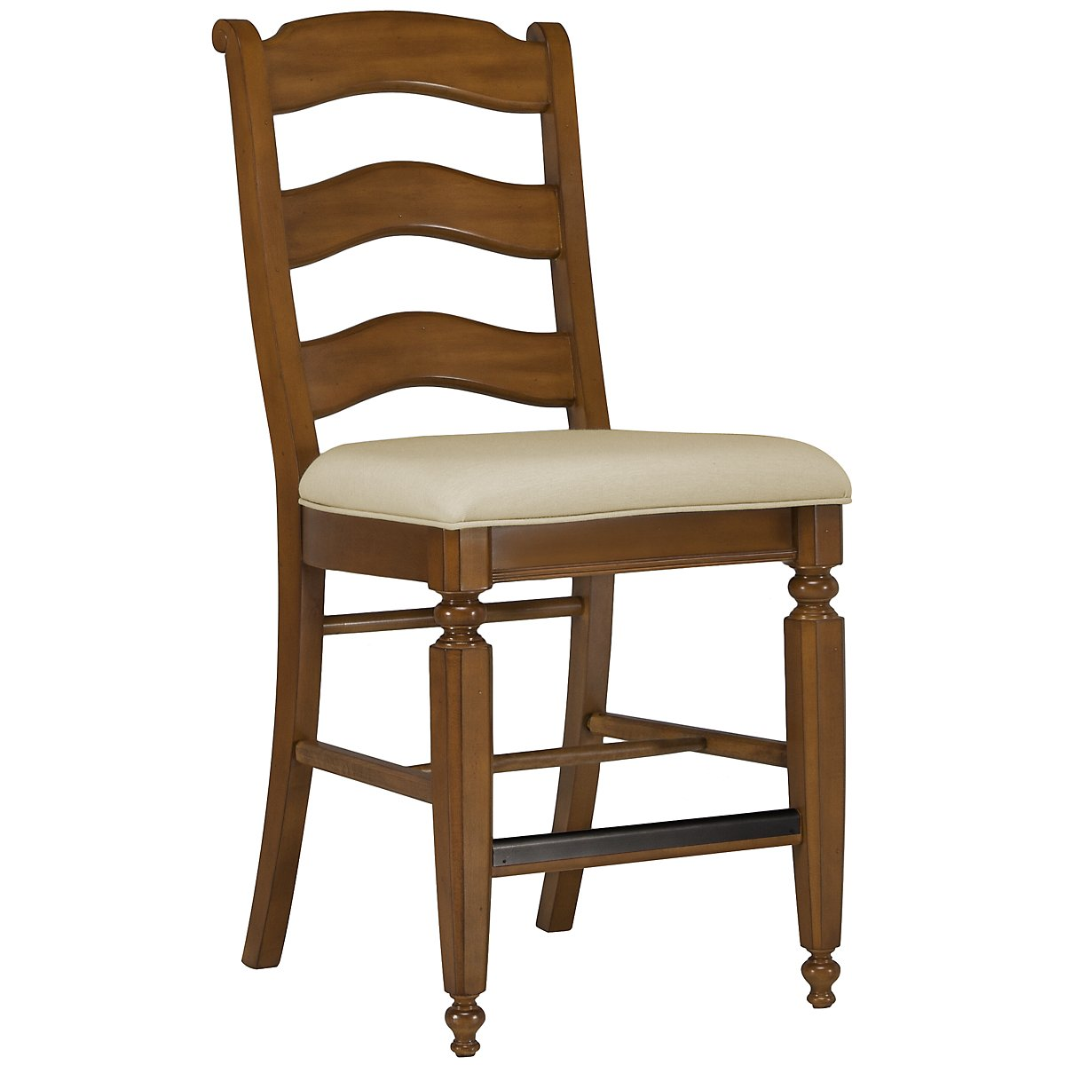 "Claire Mid Tone 24"" Wood Barstool"