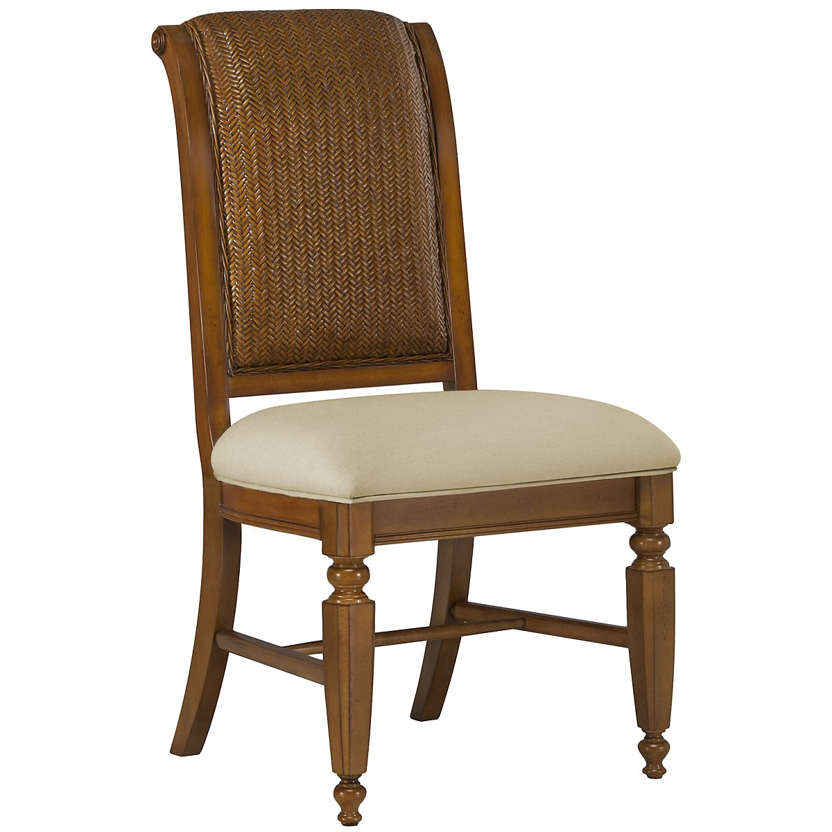 Claire Mid Tone Woven Side Chair