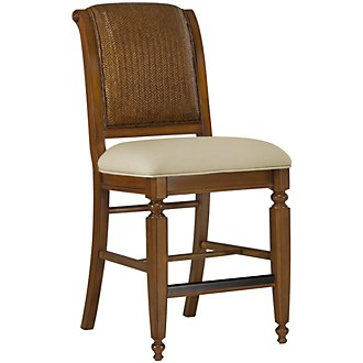 "Claire Mid Tone 24"" Woven Barstool"